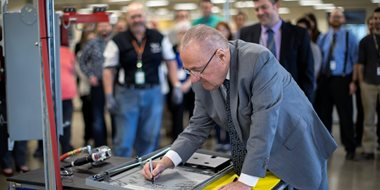 First product rolls off line at SEL Purdue, first company in Purdue's Discovery Park District