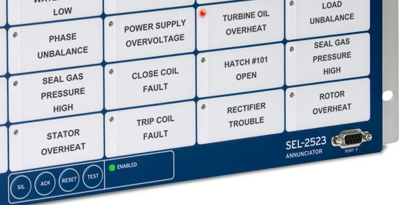Sel 2523 annunciator panel schweitzer engineering laboratories swarovskicordoba Choice Image