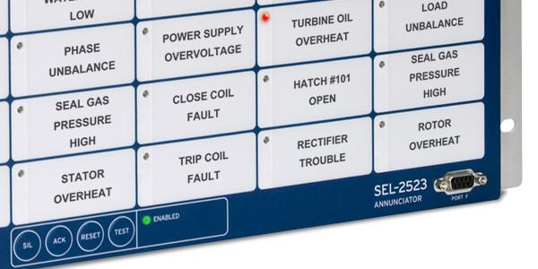 SEL-2523 Annunciator Panel | Schweitzer Engineering LaboratoriesSchweitzer Engineering Laboratories