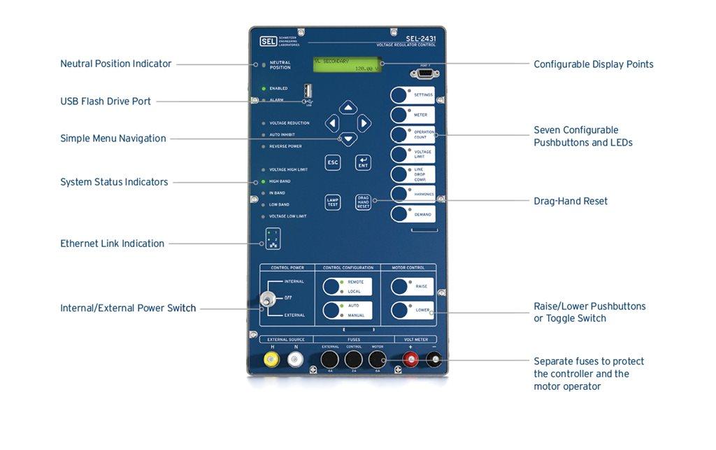 SEL-2431 Voltage Regulator Control | Schweitzer Engineering Laboratories