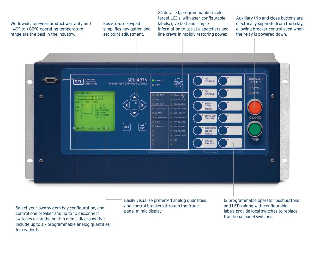 487V_visual_front?n=63575740677000&preset=size col 12&bp=md sel 487v capacitor protection and control system schweitzer sel 451 wiring diagram at n-0.co