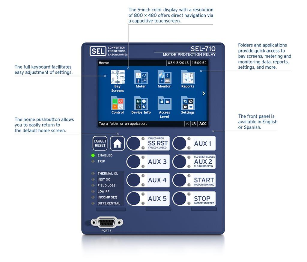 SEL-710-5 Motor Protection Relay   Schweitzer Engineering