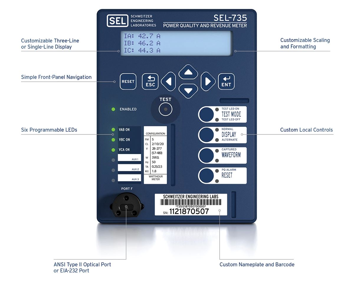 735_visual_front?n=63621542996000&preset=size col 12&bp=md sel 735 power quality and revenue meter schweitzer engineering sel 735 wiring diagram at n-0.co