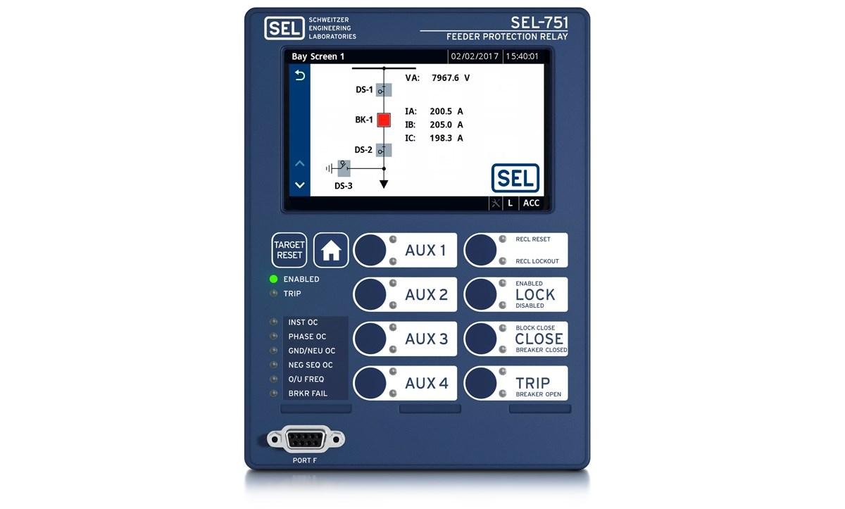 SEL 751_Bay Screen?n=63626474927000&preset=pattern carousel&bp=md sel 751 feeder protection relay schweitzer engineering laboratories sel 451 wiring diagram at webbmarketing.co