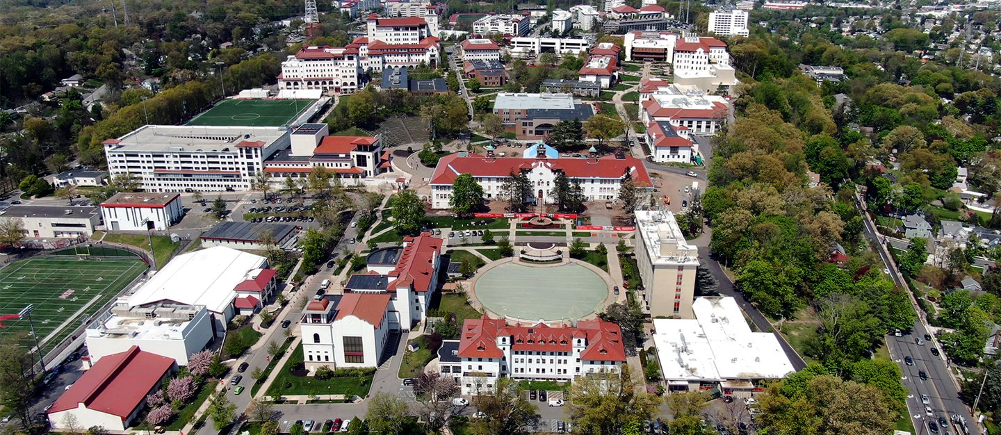 Aerial view of Montclair State University