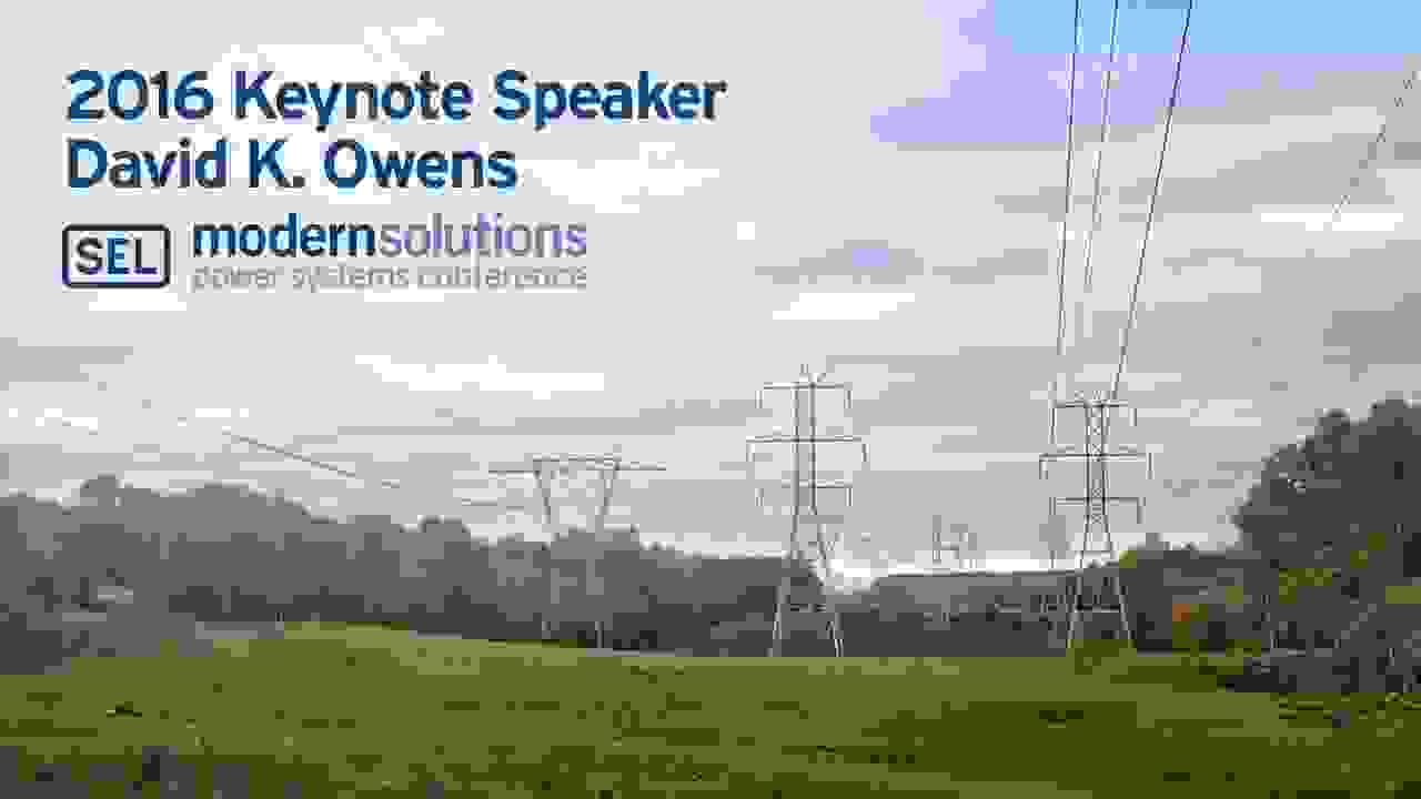 MSPSC 2016 – Keynote Speaker David K. Owens