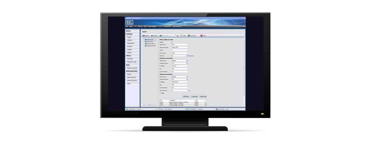 SEL-5073 SYNCHROWAVE Phasor Data Concentrator (PDC) Software